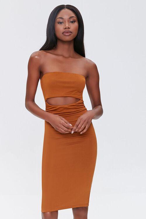 Cutout Bodycon Tube Dress, image 1