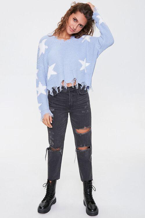 Distressed Star Print Sweater, image 4