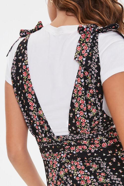 Floral Plunging Self-Tie Dress, image 5