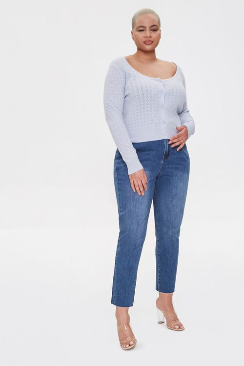 Plus Size Pointelle Cardigan Sweater, image 4