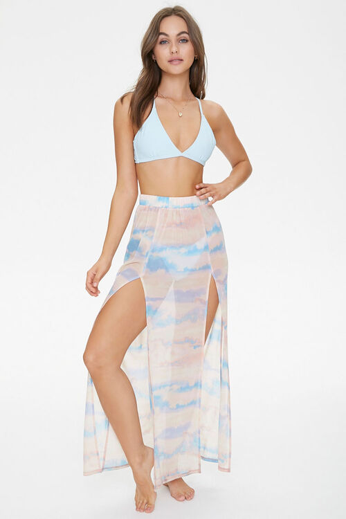 Cloud Wash Mesh Swim Cover-Up Skirt, image 5