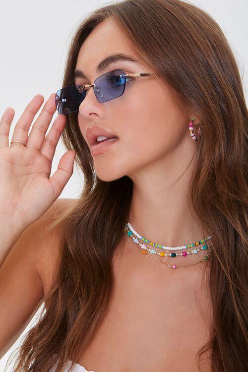 Rimless Rectangle Sunglasses, image 2