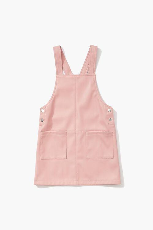 MAUVE Girls Faux Leather Pinafore Dress (Kids), image 1
