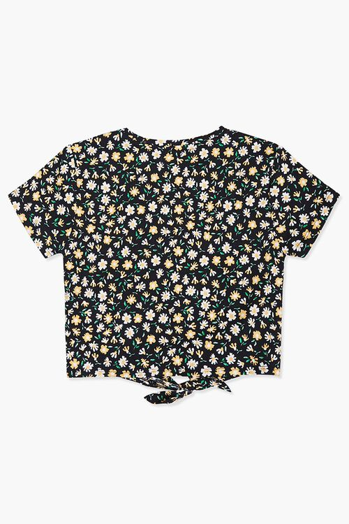 Girls Daisy Knotted Tee (Kids), image 2