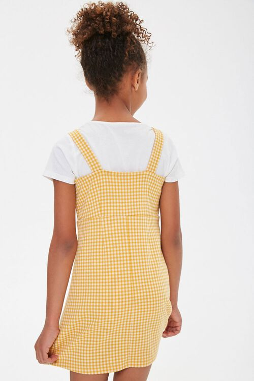 Girls Gingham Plaid Dress (Kids), image 3