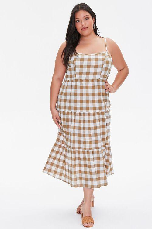 Plus Size Plaid Cami Midi Dress, image 5
