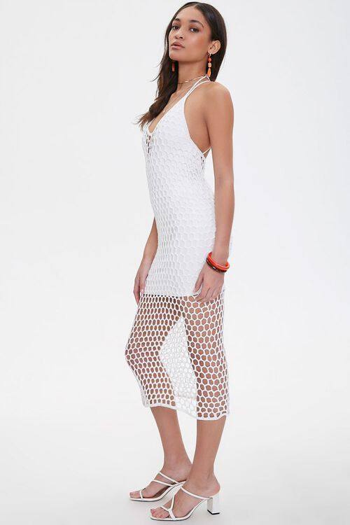 Open-Crochet Halter Dress, image 2