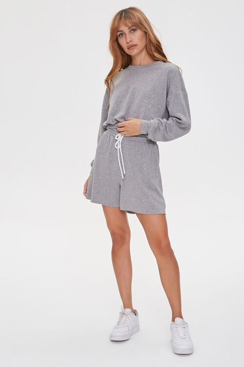 French Terry Pullover & Shorts Set, image 4