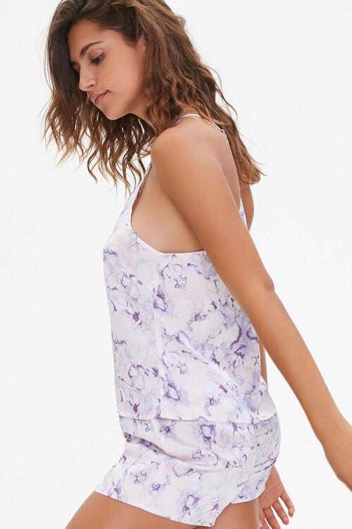 PINK/MULTI Marble Print Cami & Shorts Pajama Set, image 2
