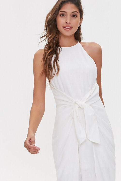 Tie-Front Plunge-Back Dress, image 4