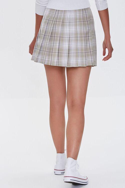 LIGHT GREEN/MULTI Pleated Plaid Mini Skirt, image 4