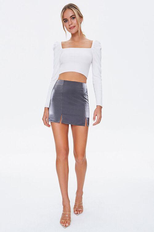 Metallic M-Slit Mini Skirt, image 5