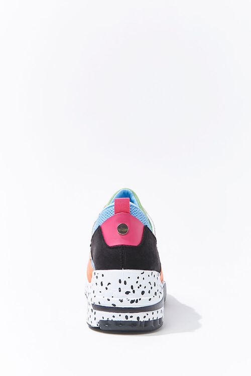 Colorblock Faux Suede Sneakers, image 2