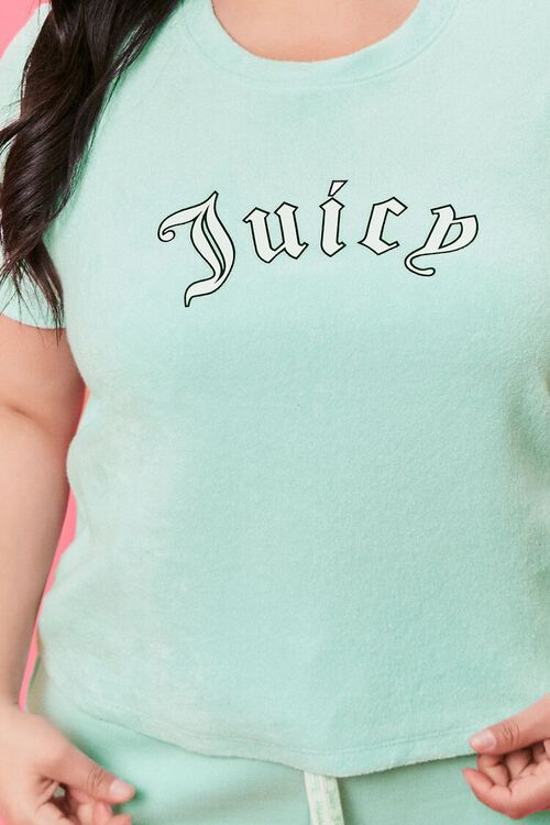 Plus Size Terry Cloth Juicy Couture Tee, image 5