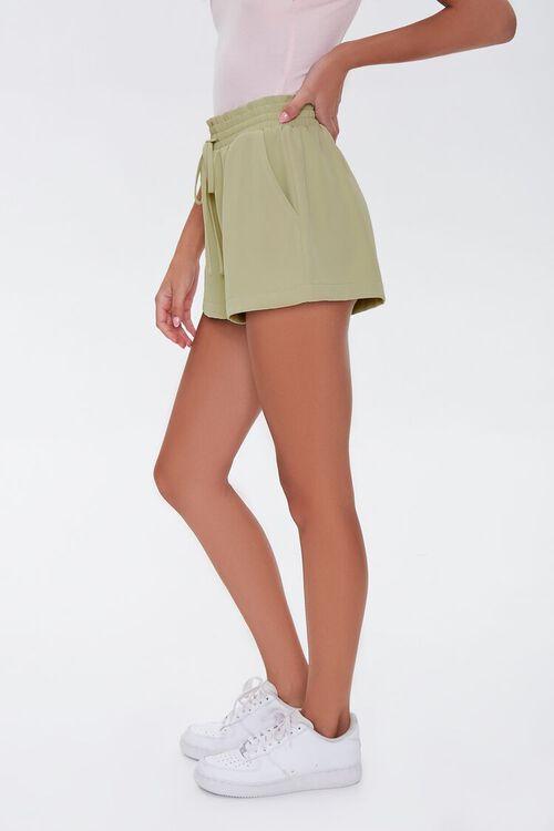 Ruffle Trim Drawstring Shorts, image 3