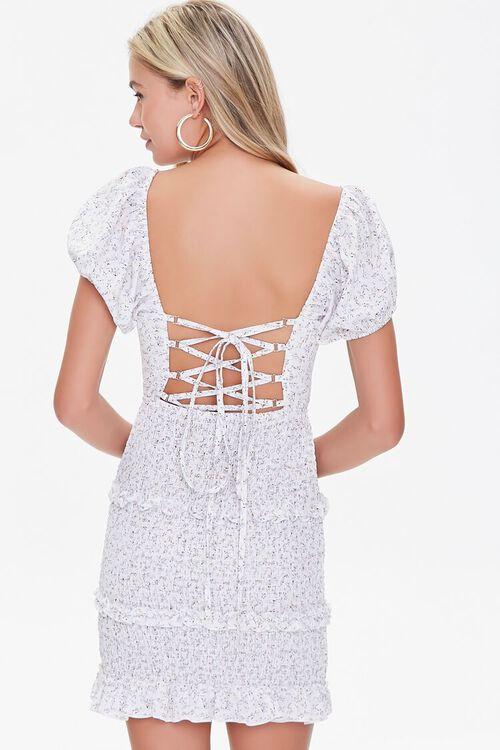 Floral Lace-Back Mini Dress, image 3