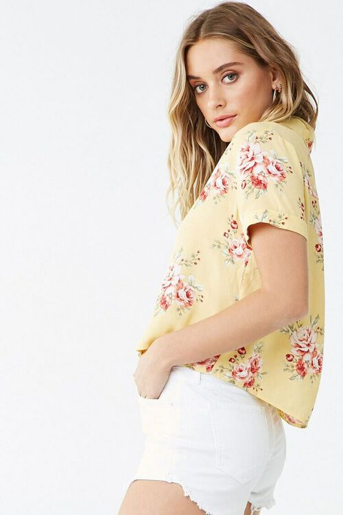 Floral Cuffed-Sleeve Shirt, image 2