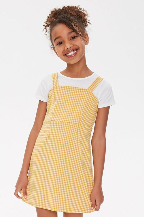 Girls Gingham Plaid Dress (Kids), image 1