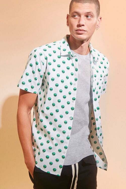 Alien Print Pocket Shirt, image 1