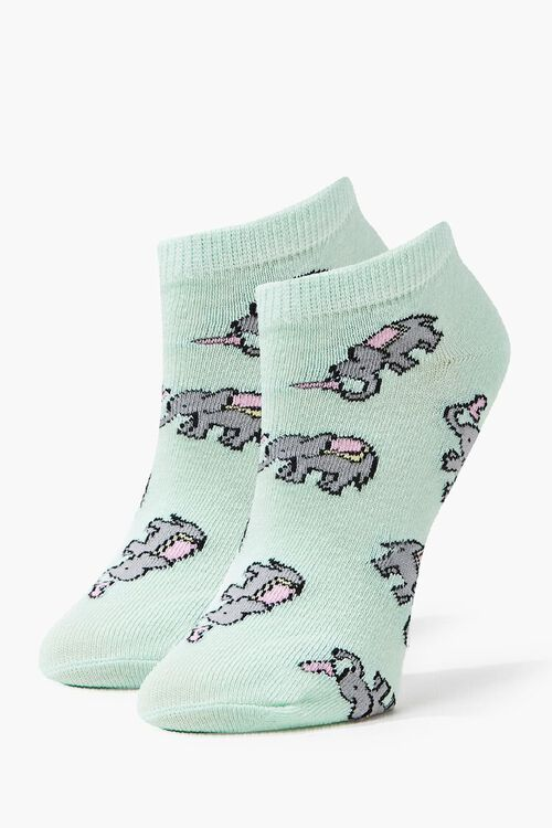 Elephant Print Ankle Socks, image 1