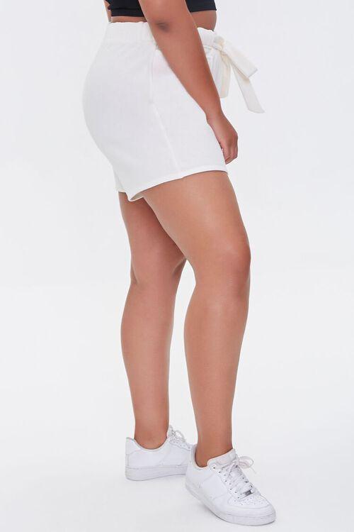 CREAM Plus Size Fleece Tie-Waist Shorts, image 3