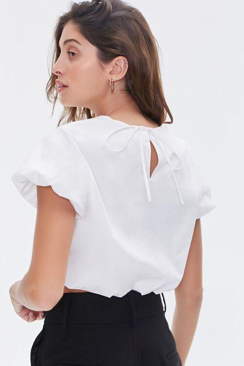 Puff-Sleeve Crop Top, image 3