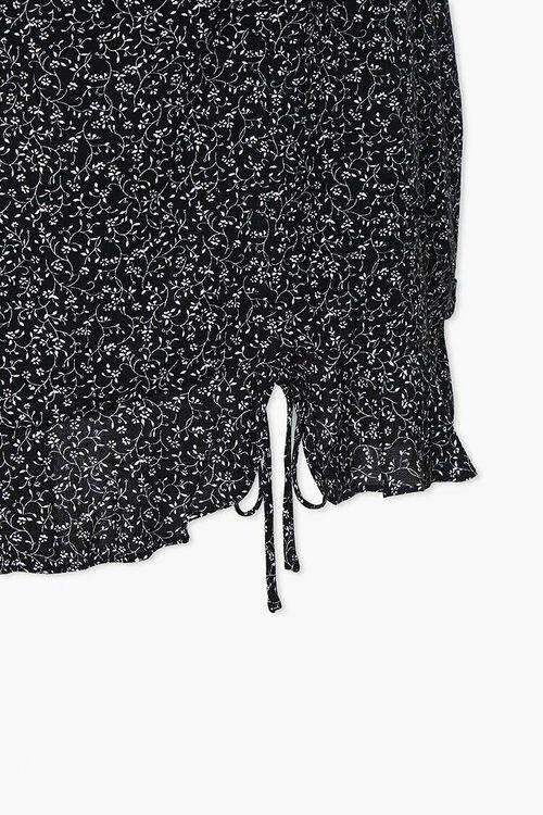 Plus Size Floral Self-Tie Mini Skirt, image 4