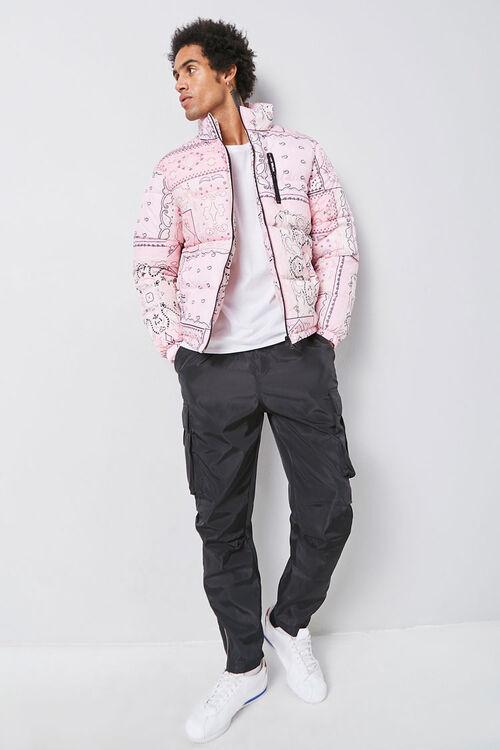 Bandana Print Puffer Jacket, image 5