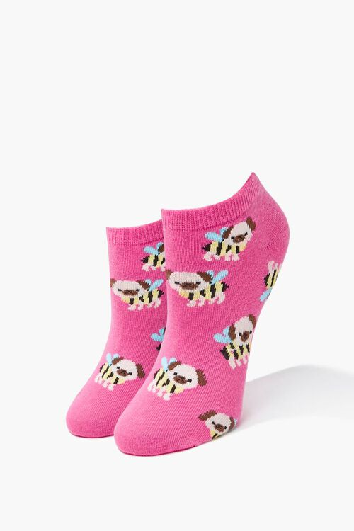 Puppy Bee Ankle Socks, image 1