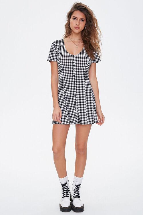 Gingham Fit & Flare Mini Dress, image 4