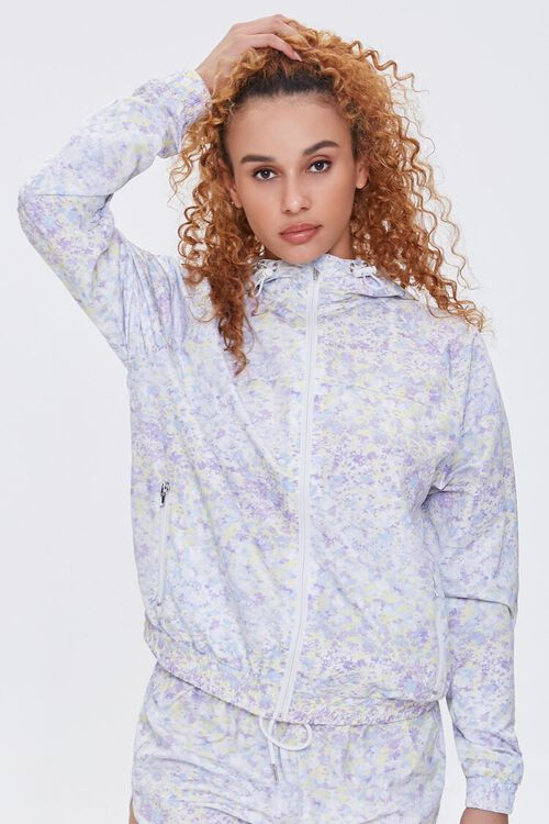Active Ditsy Floral Windbreaker, image 1