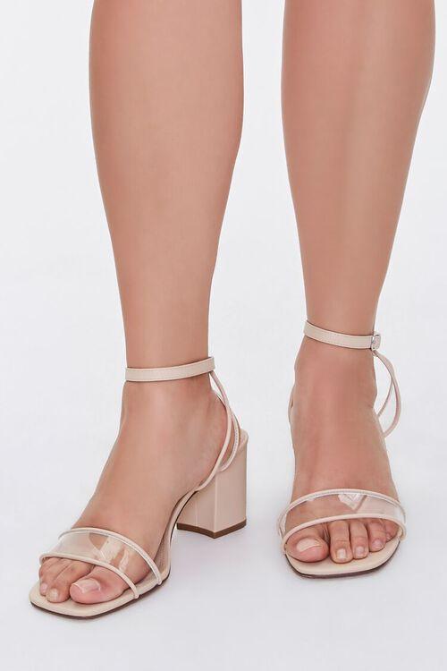 Clear-Strap Block Heels (Wide), image 1