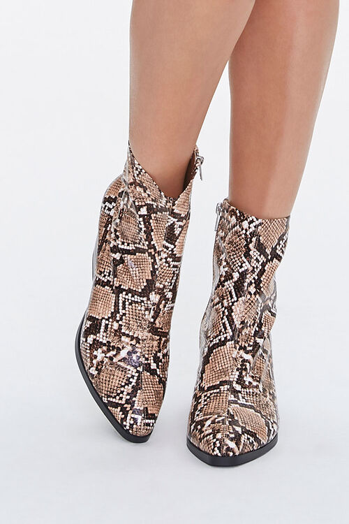 Faux Snakeskin Booties (Wide), image 4