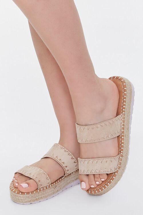 Threaded Espadrille Flatform Sandals, image 1