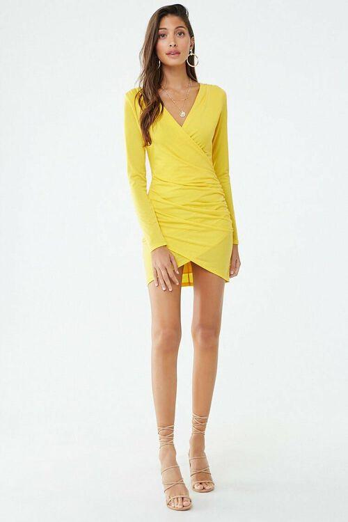 Surplice Tulip-Hem Mini Dress, image 4