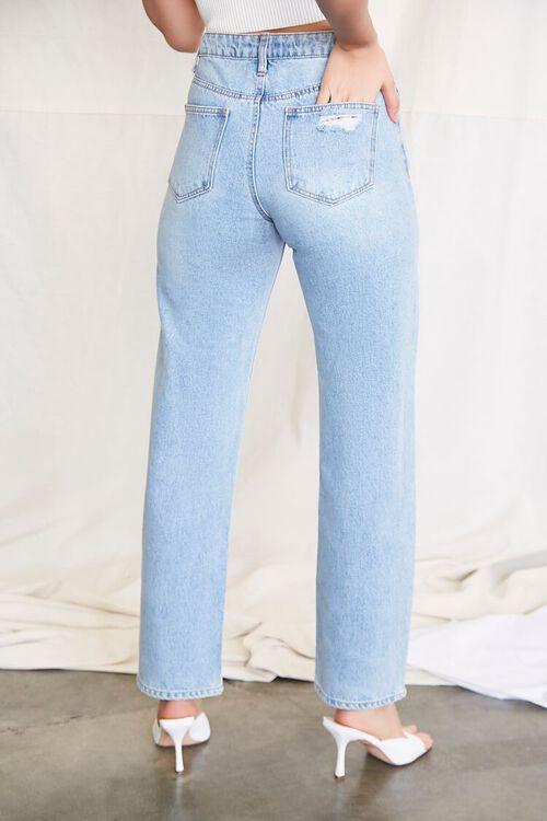 LIGHT DENIM Crisscross Waist 90s Fit Jeans, image 4