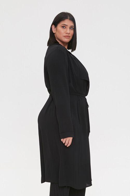 Plus Size Crepe Drape-Front Jacket, image 2