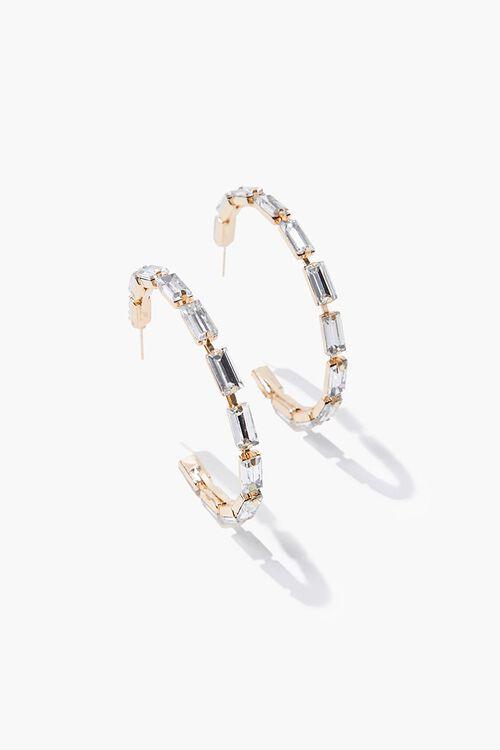 Faux Gem Hoop Earrings, image 2