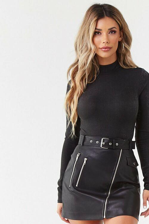 Metallic Knit Bodysuit, image 2