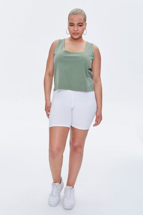 Plus Size Mineral Wash Tank Top, image 4
