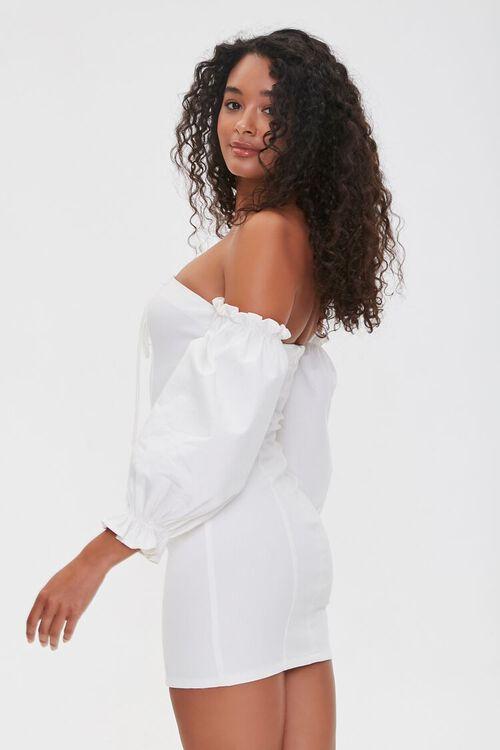 Off-the-Shoulder Lace-Up Dress, image 3