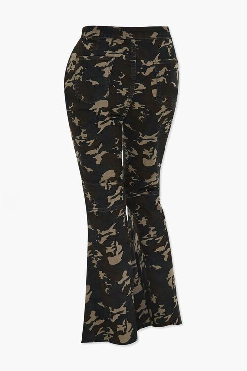 Plus Size Camo Flare Jeans, image 3