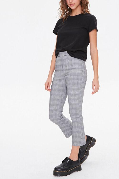 Glen Plaid High-Rise Pants, image 1