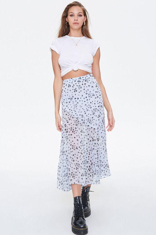 Chiffon Floral Maxi Skirt, image 5