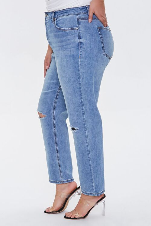 Plus Size Distressed Straight Jeans, image 3