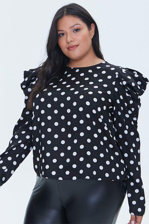 Plus Size Polka Dot Top, image 1