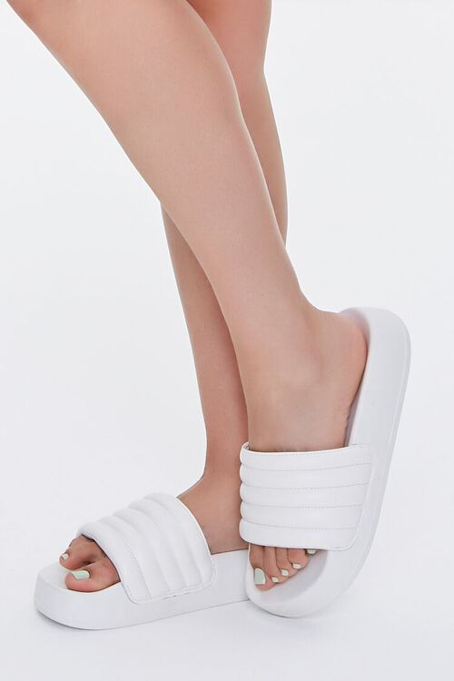 Quilted Slide Sandals, image 1
