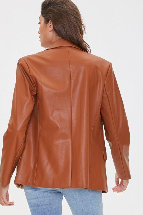 Faux Leather Blazer, image 3