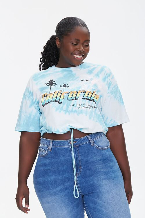 Plus Size California Graphic Cropped Tee, image 1