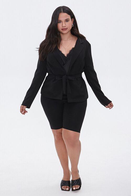 Plus Size Tie-Front Notched Blazer, image 5